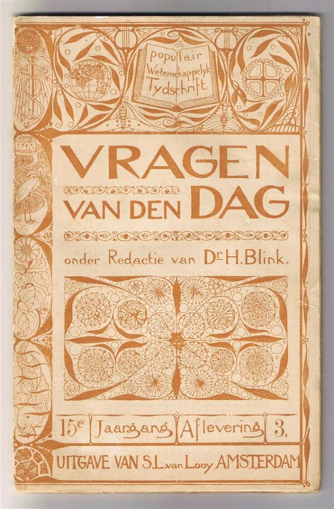 Vragen van den dag, omslagontwerp Theo Nieuwenhuis (1900)