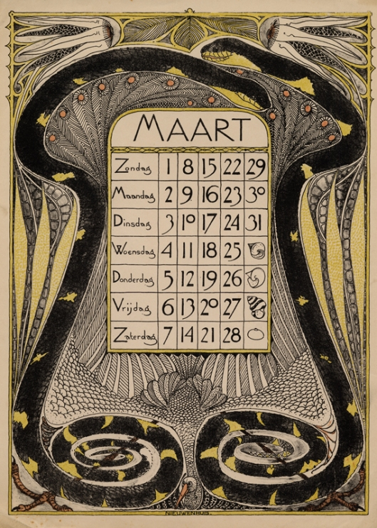 Kalenderplaat Theo Nieuwenhuis collectie Wolfsonian-FIU 2