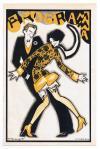 Omslag programma voor N.V. v/h J. Strang & Co's Drukkerijen, ontwerp: Dolly Rüdeman (ca. 1925)