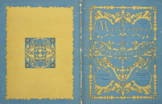 Theo Colenbrander, tijdschriftomslag 'Maandschrift voor Vercieringskunst' (1896), Collectie Drents Museum