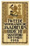 Brochure - Tweede Nederlandsche Jaarbeurs Utrecht, omslagontwerp: Mattheus C.A. Meischke (1918)