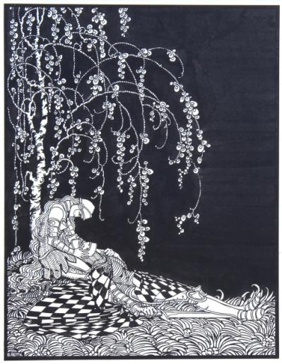 Bernard_Reith_illustratie_stervende_ridder_Couperus_Museum_expositie