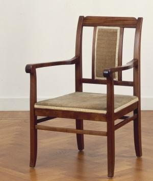 Bekledingsstof Theo Nieuwenhuis op fauteuil van Tjerk Tjeerde, 1908 (Collectie SSK)