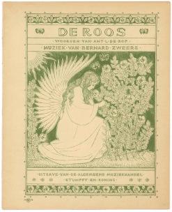 Muziekblad - De Roos, omslagontwerp: Antoon Molkenboer (1896)