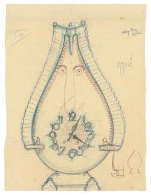 klok_michel_de_klerk_ontwerpschets_collectie_stedelijk_museum