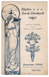 Programmaboekje Théâtre Sarah Bernardt, omslagontwerp: Paolo Guglielmi (ca. 1900)