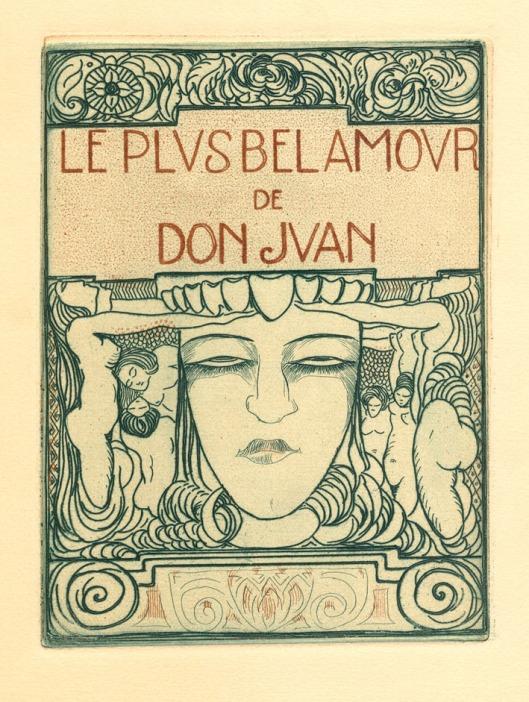 Les plus bel amour de Don Juan, titelpagina