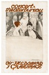 Programma van Concert- en Theaterbureau dir. J.H.L. Bossard, omslagontwerp: Piet van der Hem (1919)