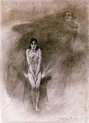 Félicien Rops, 1882 - Le plus bel amour de Don Juan