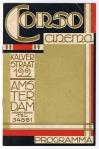 Programmaboekje Corso Cinema, omslagontwerp J.A. Luii & Co. (circa 1925)