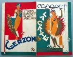 Programmaboekje Cabaret La Gaîté Dansant - Grand Theatre Rotterdam, omslagontwerp: Pieter den Besten (ca. 1925)