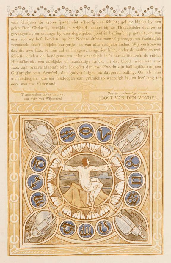 Illustratie voor Gijsbreght van Aemstel (1893) door Antoon Derkinderen