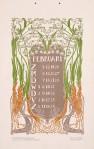 jugendstil kalenderblad omslagkalender Bloem en Blad februari 1905 ontwerp: Anna Sipkema