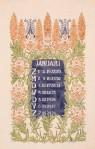 jugendstil aquarel-ontwerptekening omslagkalender Bloem en Blad januari 1905 Anna Sipkema