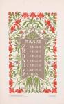 jugenstil kalenderblad omslagkalender Bloem en Blad maart 1905 Anna Sipkema