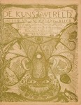 Omslag tijdschrift De Kunstwereld 1894 ontwerp Carel Adolph Lion Cachet