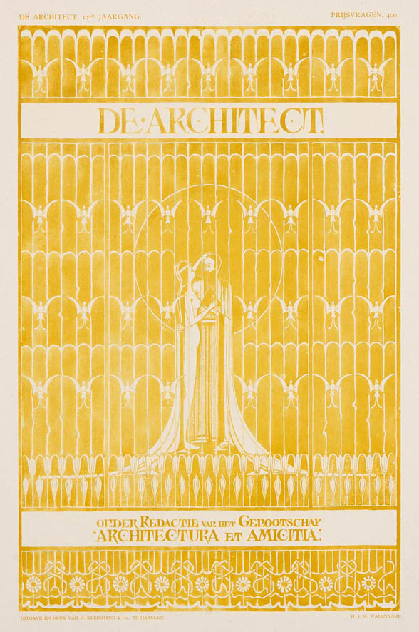 Omslagontwerp voor De Architect 1900 ontwerper Herman Walenkamp