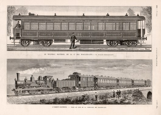 Eerste Orient-Express, l'Illustration, 1884 (collectie Arjan den Boer)