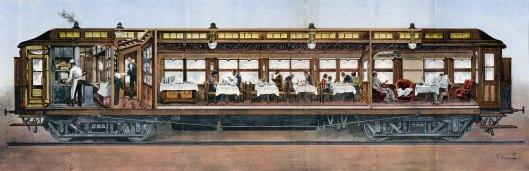 Doorsnede restauratierijtuig, 1896 (collectie Arjan den Boer)