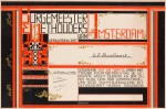 Getuigschrift gemeente Amsterdam ontwerp Albert Klijn 1929 stijl Amsterdamse School art deco