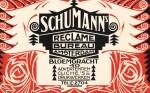 Reclamekaart van Schumann's Reclame Bureau ontwerp Piet Kramer stijl Amsterdamse School