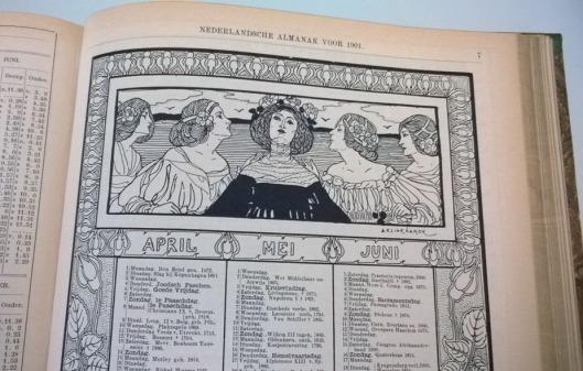 Nederlandsche_Almanak_1901_kalender_klinkhamer