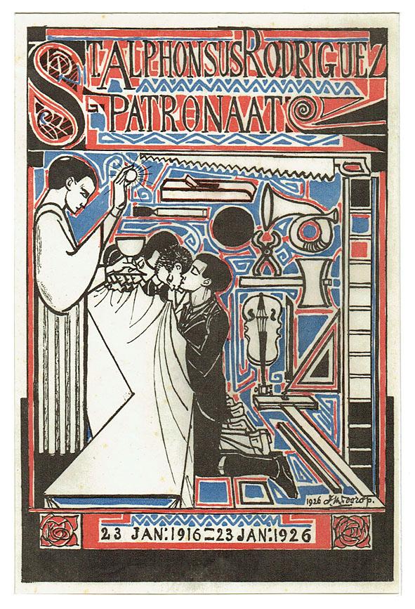 Jubileumprent St. Alphonsus Rodriguez Patronaat, ontwerp: Jan Toorop (1926)