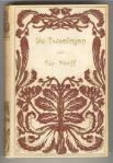 art nouveau boekband De Tweelingen door Top Naeff bandontwerp Cornelia van der Hart