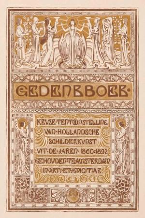Titelpagina Gedenkboek Keuze Tentoonstelling van Hollandsche schilderkunst, ontwerp Antoon Derkinderen (1893)