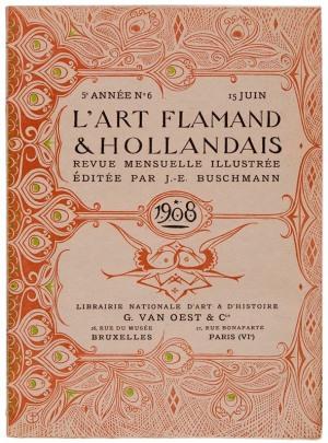Tijdschrift L'Art Flamand & Hollandais ontwerp Gerrit Willem Dijsselhof 1908