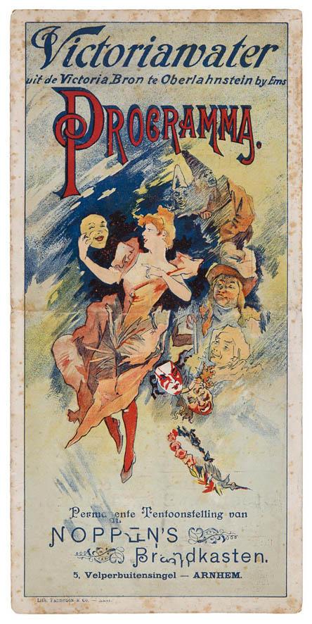 art nouveau programma Stadsschouwburg Utrecht, ontwerp: Jules Chéret (1897)