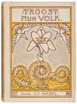 boekband Troost mijn volk door J.C. Sikkel ontwerper Jacobus Wormser