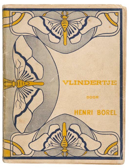 Vlindertje door Henri Borel omslagontwerp M. Mulder van der Graaf 1901