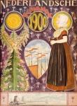 Nederlandsche Almanak voor 1900 art nouveau omslagontwerp toegeschreven aan Hendrik Nicolaas Postma