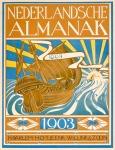 Nederlandsche Almanak voor 1903 art nouveau omslagontwerp: Jaap Veldheer