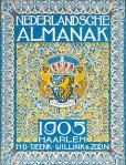 Nederlandsche Almanak voor 1905 art nouveau omslagontwerp: Theo Neuhuys