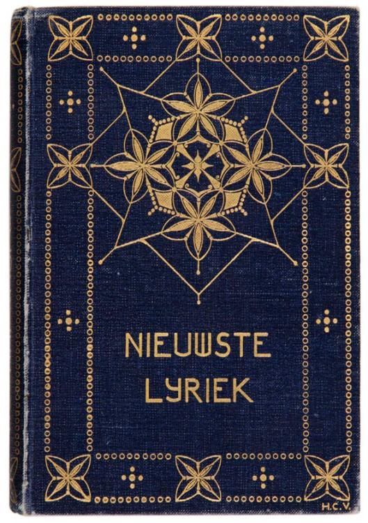 Nieuwste Nederlandsche Lyriek bandontwerp Henri Cornelis Verkruijsen 1910