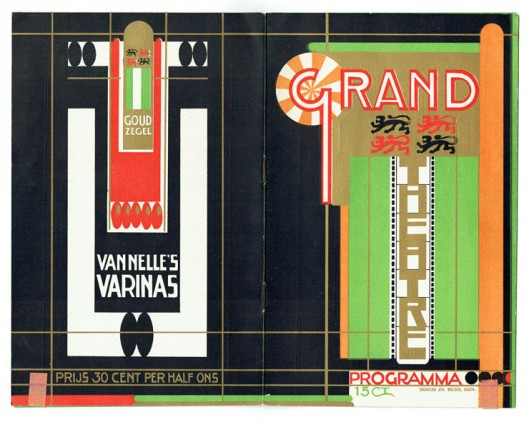 Programmaboekje van Jac. Jongert voor het Grand Théâtre in Rotterdam, 1924.