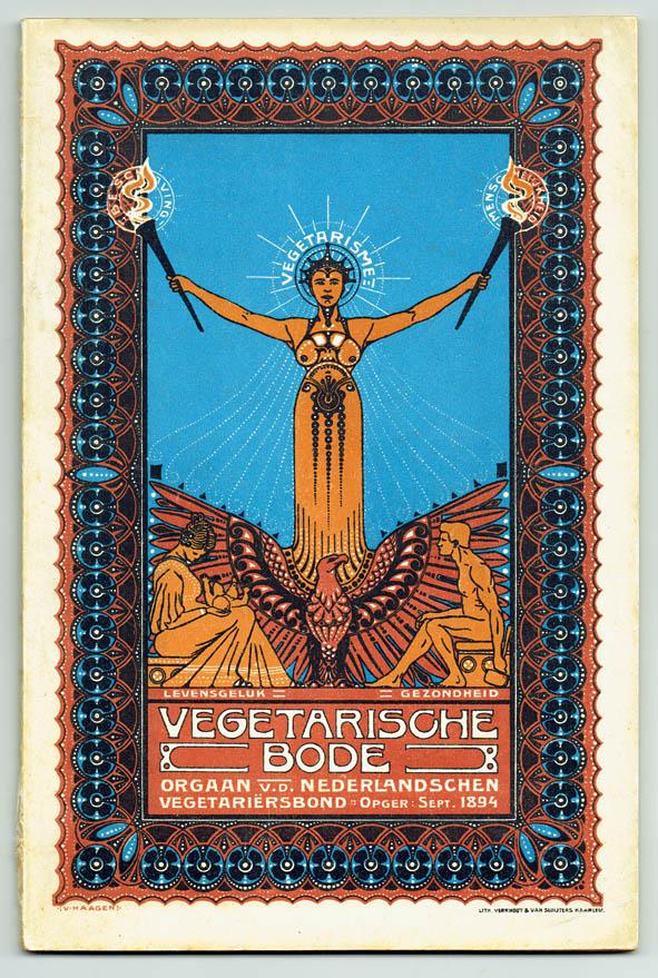 De Vegetarische Bode art nouveau symbolisme omslag ontwerp J.J.H. van Haagen 1907