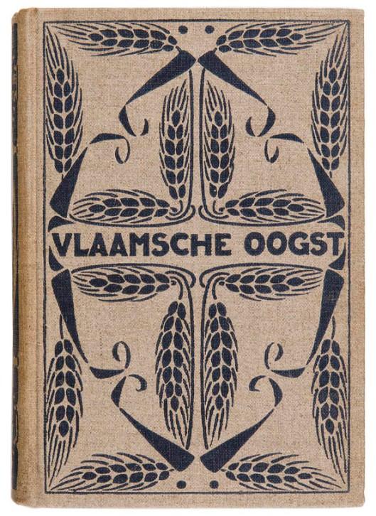 Vlaamsche Oogst bandontwerp Jan Bertus Heukelom 1904
