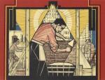 De metselaar, illustratie voor N.V.V. kalender 1928