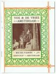 """Titelpagina brochure Vos & De Vries Meubelfabriek """"De Eenvoud"""", omslagontwerp: Theo Neuhuys (1902)"""