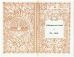 Programma Concert Directie De Algemeene Muziekhandel, omslagontwerp Theo Neuhuys (1901)