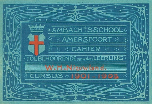 Schriftetiket voor de Ambachtsschool in Amersfoort