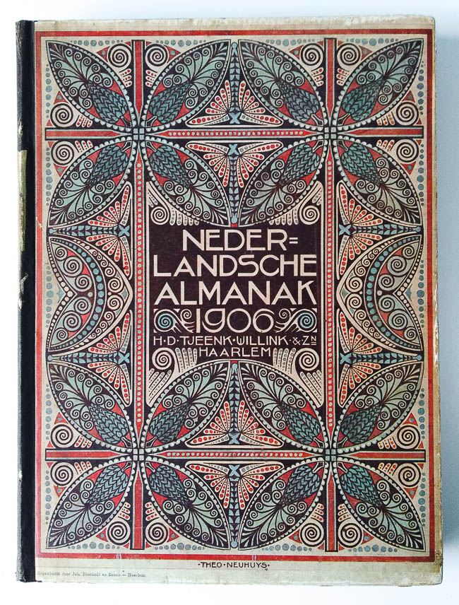 Omslagen van Theo Neuhuys voor de Nederlandsche Almanak