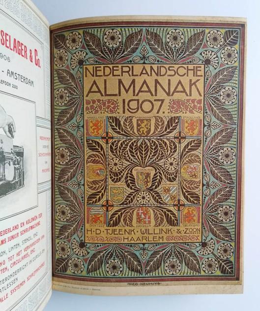 Nederlandsche Almanak 1907, omslagontwerp: Theo Neuhuys