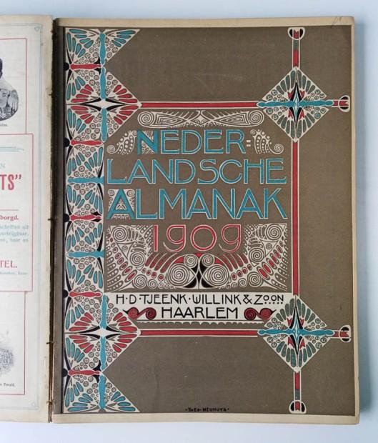 Nederlandsche Almanak 1909, omslagontwerp: Theo Neuhuys