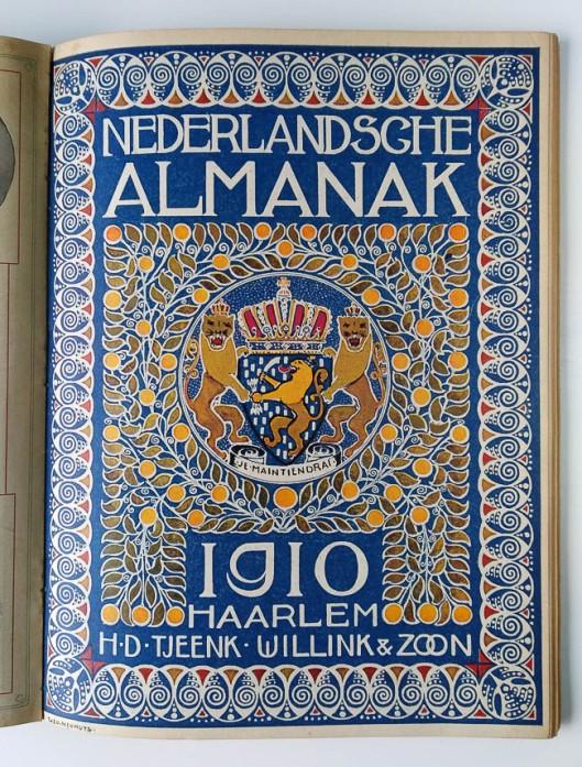 Nederlandsche Almanak 1910, omslagontwerp: Theo Neuhuys
