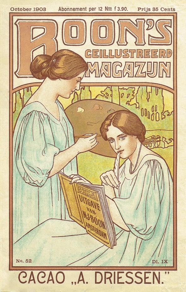 Jugendstil-omslagen voor Boon's Geïllustreerd Magazijn