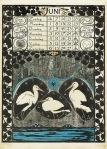 Art Nouveau kalenderblad juni 1896 ontwerper Theo Nieuwenhuis